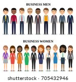 characters businessmen and... | Shutterstock . vector #705432946