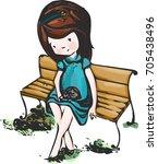 watercolor illustration... | Shutterstock .eps vector #705438496