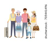 travel people illustration | Shutterstock .eps vector #705441496