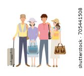 travel people illustration | Shutterstock .eps vector #705441508