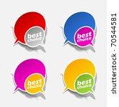 eps10  realistic design elements | Shutterstock .eps vector #70544581