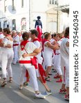 bayonne  france   july31 ... | Shutterstock . vector #705460345
