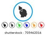 ethereum penetrated head flat...   Shutterstock .eps vector #705462016