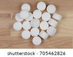 salt pellets for environment...   Shutterstock . vector #705462826