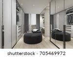 3d rendering black cushion in... | Shutterstock . vector #705469972