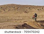 motorbike off road rider in the ... | Shutterstock . vector #705470242