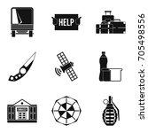 felon icons set. simple set of...