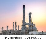 close up industrial view at oil ... | Shutterstock . vector #705503776