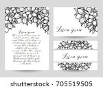vintage delicate invitation... | Shutterstock . vector #705519505