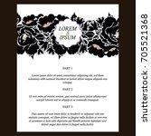 romantic invitation. wedding ... | Shutterstock .eps vector #705521368