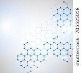 dna molecule structure... | Shutterstock .eps vector #705525058