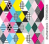 geometric elements memphis... | Shutterstock .eps vector #705530266