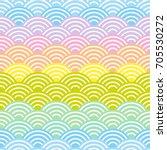 seigaiha or seigainami... | Shutterstock .eps vector #705530272