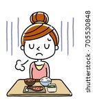 women  anorexia | Shutterstock .eps vector #705530848