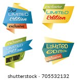 set of limited edition banners | Shutterstock . vector #705532132