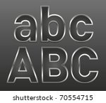 Vector Metal Letters And...