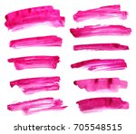 set of purple ink on white... | Shutterstock . vector #705548515