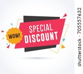 special discount banner   Shutterstock .eps vector #705557632