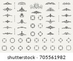 vintage decor elements and... | Shutterstock .eps vector #705561982