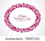 round frame from hearts... | Shutterstock .eps vector #70557151