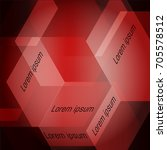 red squares abstract background....   Shutterstock .eps vector #705578512