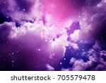 space of night purple sky with... | Shutterstock . vector #705579478