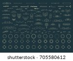 vintage decor elements and... | Shutterstock . vector #705580612