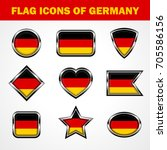flag icons of germany stock... | Shutterstock .eps vector #705586156