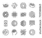 artificial intelligence. vector ... | Shutterstock .eps vector #705588865