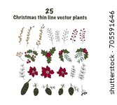 set of 25 christmas color... | Shutterstock .eps vector #705591646