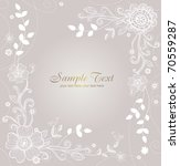 wedding card | Shutterstock .eps vector #70559287