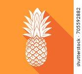 seamless pineapple pattern. | Shutterstock .eps vector #705592882