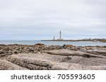 large lighthouse gattevilya ... | Shutterstock . vector #705593605