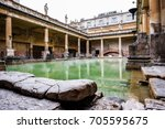 roman baths  somerset england uk | Shutterstock . vector #705595675