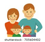 family illustration   vector    ... | Shutterstock .eps vector #705604402