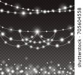 lights string bulbs isolated on ...   Shutterstock .eps vector #705604558