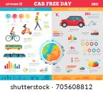 car free day on september 22... | Shutterstock .eps vector #705608812