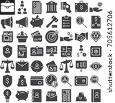 business finance vector icons... | Shutterstock .eps vector #705612706