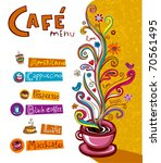 coffee background. illustration ... | Shutterstock .eps vector #70561495