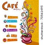 coffee background. illustration ... | Shutterstock .eps vector #70561495
