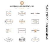 vintage labels and logo... | Shutterstock .eps vector #705617842