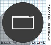 flat web window icon.