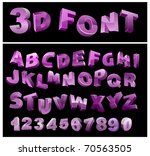 full 3d vector alphabet with... | Shutterstock .eps vector #70563505