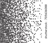 fading pixel pattern. black and ... | Shutterstock .eps vector #705636088