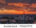 budapest  hungary   dramatic... | Shutterstock . vector #705637972