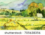 Watercolor Landscape Original...