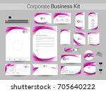 business identity kit or... | Shutterstock .eps vector #705640222