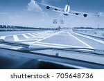 view of the road through the...   Shutterstock . vector #705648736