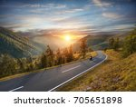 motorcycle driver riding in... | Shutterstock . vector #705651898