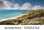 Shoreline Of Falkland Islands....